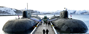 Russian Submmarines docked in port
