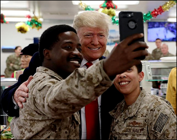 Trump visits toops in Iraq