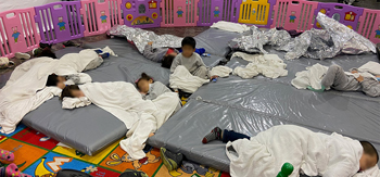 Thousands of unaccompanied minor children housed in over crowded facilities