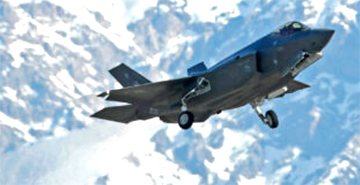 F-35 taking off from Hiill Air Force Base in Utah