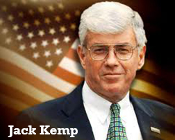 Former Football Quarterback, Congressman and Vice Presidential Candidate Jack Kemp