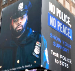 Ad; No Police equals No Peace