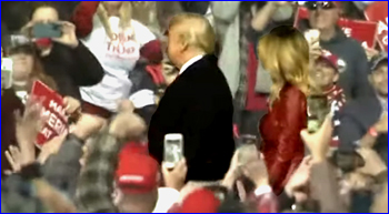 President Trump at rally in Georgia supporting GOP senatorial candidates with thousands of supporters in the crowd
