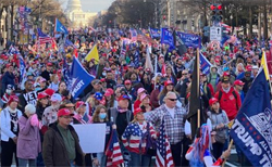 Thousands of Trump supporters rally in Washington, DC to encourage the SCOTUS to look at election fraud