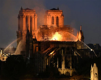 Notre-Dame in flames